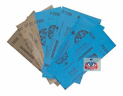 3.5 inch * 9 inch Wet & Dry Emery Sandpaper Sheets Mixed Grit 320-7000