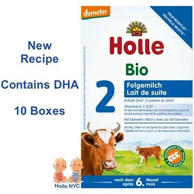 Holle Stage 2 Organic Formula 10 Boxes, 600g, 05/2019 FREE SHIPPING