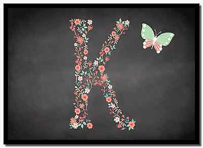Chalk Letter Initial K  Personalised Mousemat