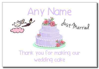 Thank You For Making Our Wedding Cake Lilac  Personalised Magnet