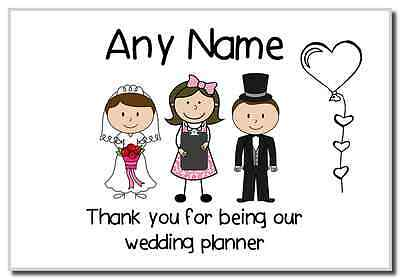 Thank You Wedding Planner  Personalised Magnet
