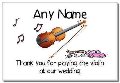 Thank You For Playing The Violin At Our Wedding  Personalised Magnet
