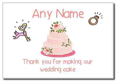 Thank You For Making Our Wedding Cake Pink  Personalised Magnet
