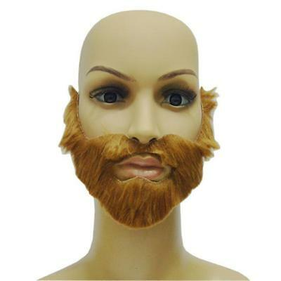 Fake Facial Hair Farmer Moustache Beard Adult Halloween Costume Theatre Prop L