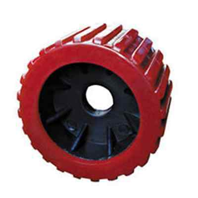 """x12 BOAT TRAILER WOBBLE ROLLERS. 3"""" WITH 20MM BORE Red RIBBED. LOCAL SELLER"""