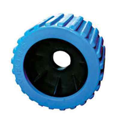 "x12 BOAT TRAILER WOBBLE ROLLERS. 3"" WITH 20MM BORE BLUE RIBBED. LOCAL SELLER"