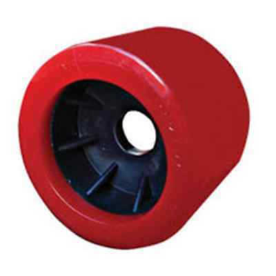 """x8 BOAT TRAILER WOBBLE ROLLERS. 4"""" WITH 20MM BORE RED SMOOTH. LOCAL SELLER"""