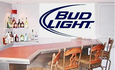 Bud Light Decal 26x`15.5 inch BLUE  Wall Decal College Home Beer Breweriana