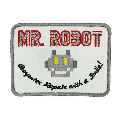 Mr Robot Fsociety White Tv Show High Quality Patch Iron/sew On  ~~Us Seller ~~