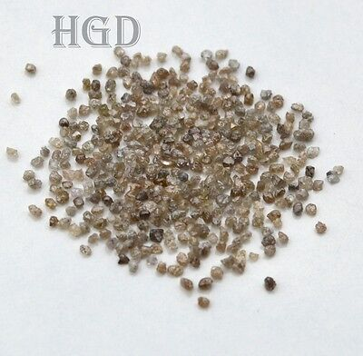 5crts+ DARK BROWN 1.50mm Loose Rough Diamonds  100% NATURAL UNCUT £14.99 !