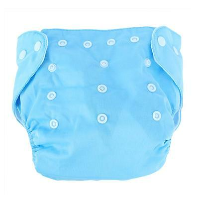 5- 35 PCS Adjustable Reusable Lot Baby Washable Cloth Diaper Nappies Cotton Blue