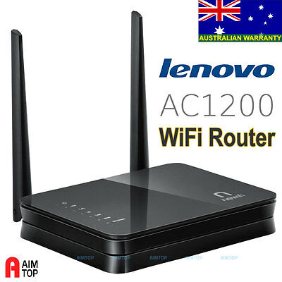 Lenovo Dual Band AC1200 WiFi Router/ Access Point OpenWrt Based USB Storage Port