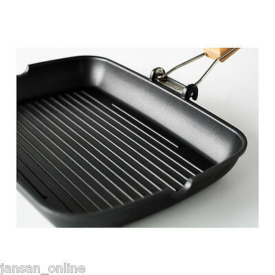 Ikea Grilla- Teflon Coated Griddle Skillet Fry Pan- Non Stick- Foldable Handle