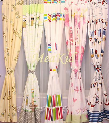 LUXURY KIDS CHILDREN ROOM WINDOW CURTAINS in Matching Pattern for Bedding Set