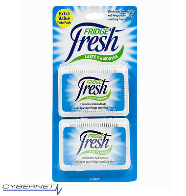 2x Fridge Fresh Deodoriser Kitchen Air Fresheners Remove Smells Eliminates Odour