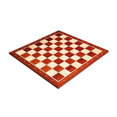 "USCF Sales Padauk & Maple Wooden Chess Board - 2.25"" With Notation"