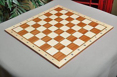 "USCF Sales Maple & Mahogany Wooden Chess Board - 2.5"" With Notation"