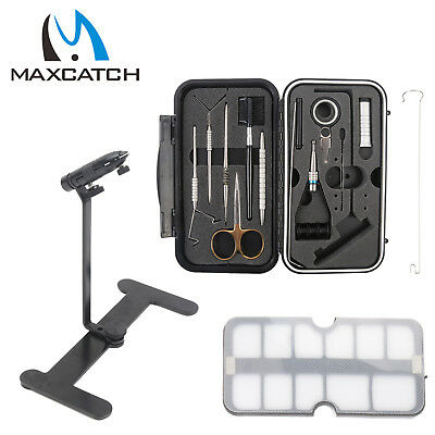 Maxcatch Compact Fly Tying System Fly Tying Tool Set Vise Traveller Tackle Kit