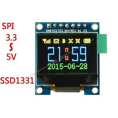 65K Color OLED Display 3.3v 5v Serial SPI Small LCM Module for Arduino Uno R3