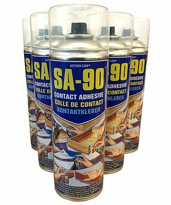 (2 TINS) Action Can SA-90 High Strength Industrial Contact Adhesive - spray glue