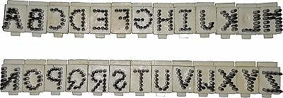 Stone Animal Tattoo 9.5mm A to Z 26 Digits, Veterinary/Live Stock Supply Supply
