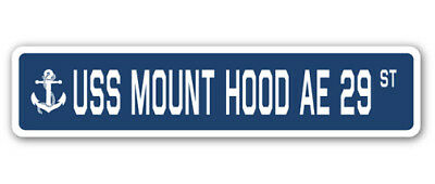 USS MOUNT HOOD AE 29 Parking Sign US Navy USN Military