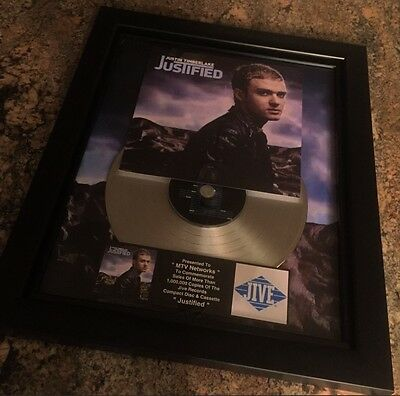 Justin Timberlake Justified Platinum Record Album Disc Music Award MTV RIAA