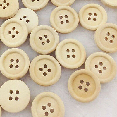 New 10/50/100pcs Mix Christmas Kid's Wood Buttons 20 mm Sewing Craft WB27