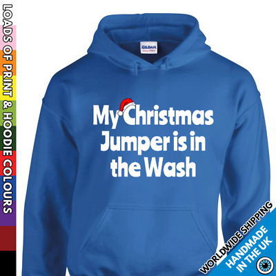 Childrens Christmas Funny Hoodie - Jumper In The Wash Kids Boy Girl Xmas Hooded