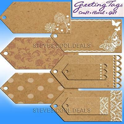 GIFT Labels PARCEL Tag CRAFT WEDDING FAVOUR GIFT TAGS BROWN PAPER NATURAL CARD