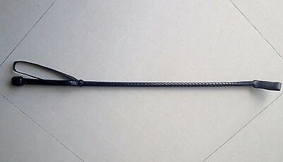 Riding/Jumping Crop,Braided Real Leather.Hand crafted Leather Crop/Whip 28 inch