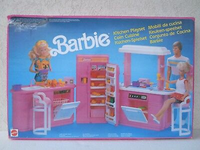 barbie kitchen playset mobili cucina coin cuisine keuken speelset 1990 NRFB 8754