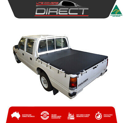 Holden Rodeo TF (1988-1996) Dual Cab Ute Bunji Tonneau Cover Tarp -fits loadrest