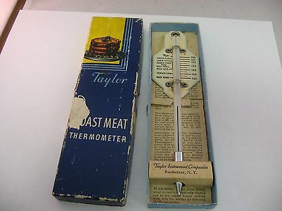 Vintage Taylor Roast Meat Thermometer Kitchen Utensil Rochester NY