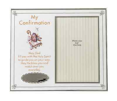 New White Confirmation Frame 4X6' Personalized Gift