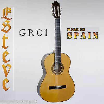 ESTEVE 1GR01 Model 1 CLASSICAL GUITAR. A BRIGHTER SOLID SPRUCE TOP MADE IN SPAIN
