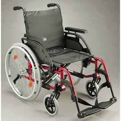 Wheelchair – Breezy Basix2 18″ Red  (Sunrise Medical) *BRAND NEW*