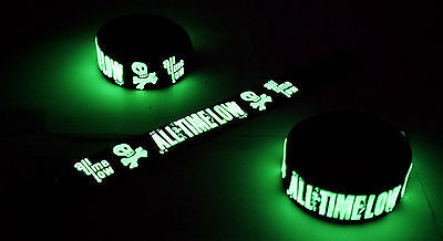 All Time Low Glow in the Dark Rubber Bracelet Wristband  vg210