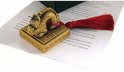 US Chosun Dynasty Empress Myeongseong queen the Royal Imperial seal Dragon stamp