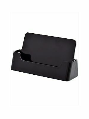 250 Black Plastic Business Card Display Stand Holders 11699