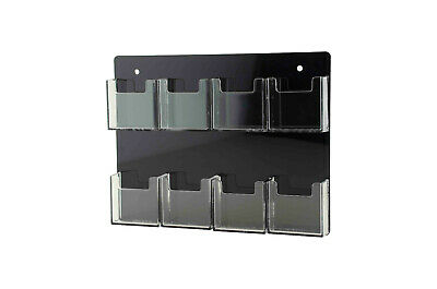 8 Pocket Wall Mount Vertical Clear Acrylic Business Card Holder