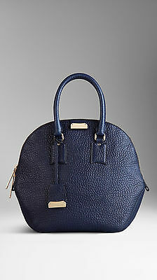 4282cea8027 NWT Burberry 100% Authentic Burberry Bag Blue Medium Orchard in Grain  Leather