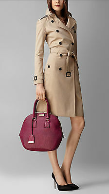 a1ca3a87148 NWT Burberry 100% Authentic Burberry Bag Purple Small Orchard in Grain  Leather