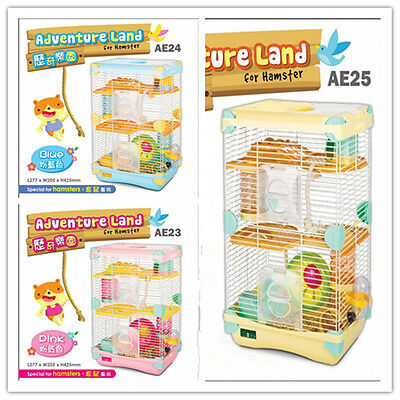 Alice Adventure Land For Hamster Supplies Pet Cage Gerbil Playhouse 3 Layers