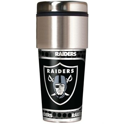 NFL Oakland Raiders 360 Wrap Travel Tumbler Football Fan Coffee Mug Cup