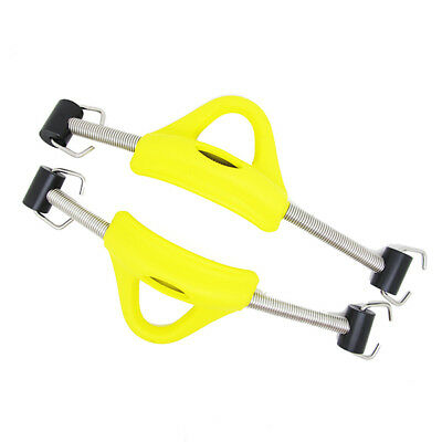 Scuba Choice Scuba Diving SS Red Spring Fin Straps Pin Style - Pair, Yellow