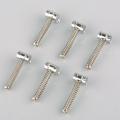 6pcs/Set Vintage Bridge Saddles For Fender Tele Guitar Chrome Finished