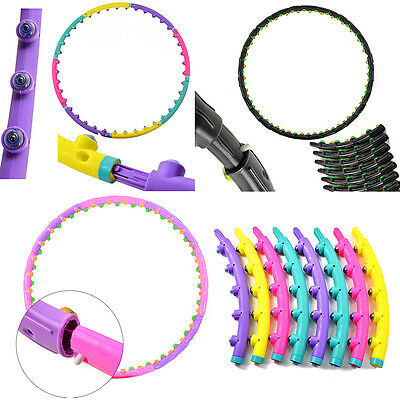 Professional Hula Hoola Hoop Weighted Magnetic Fitness Exercise Abs Gym Massager