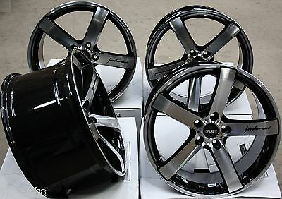 """18"""" Cruize Blade Black & Polished Concave Staggered 5X112 18 Inch Alloy Wheels"""