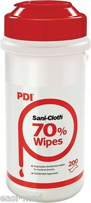 Sani-Cloth 70 Clinical / Medical Hard Surface Disinfection Wipes (200) each or 6